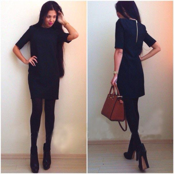 2017 2015 New Black Casual Winter Dress Pencil Work Wear Dresses ...