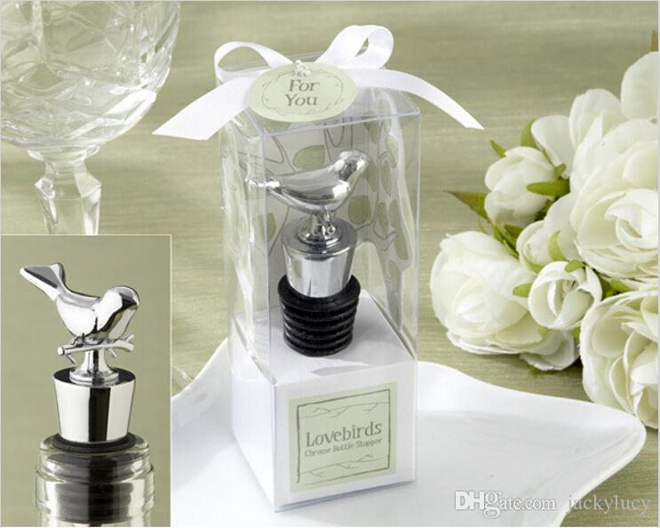 New Arrival Exquisite Box Packing Love Bird Wine Stopper Metal Bottle Opener For Wedding Favor Supplies