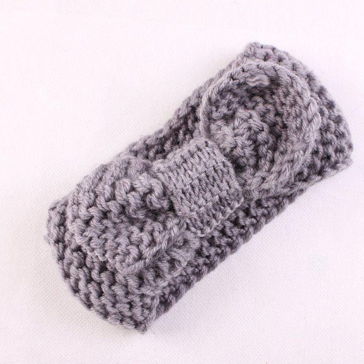 New Boutique Xmas Newborn maglia elastica Head Wrap maglia di lana arco fascia capelli bambino battezzato Fascia Turbante Twist annodato Headwrap FD6579