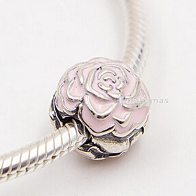 Grosshandel 100 925 Sterling Silber Rose Garten Clip Charm Bead Mit