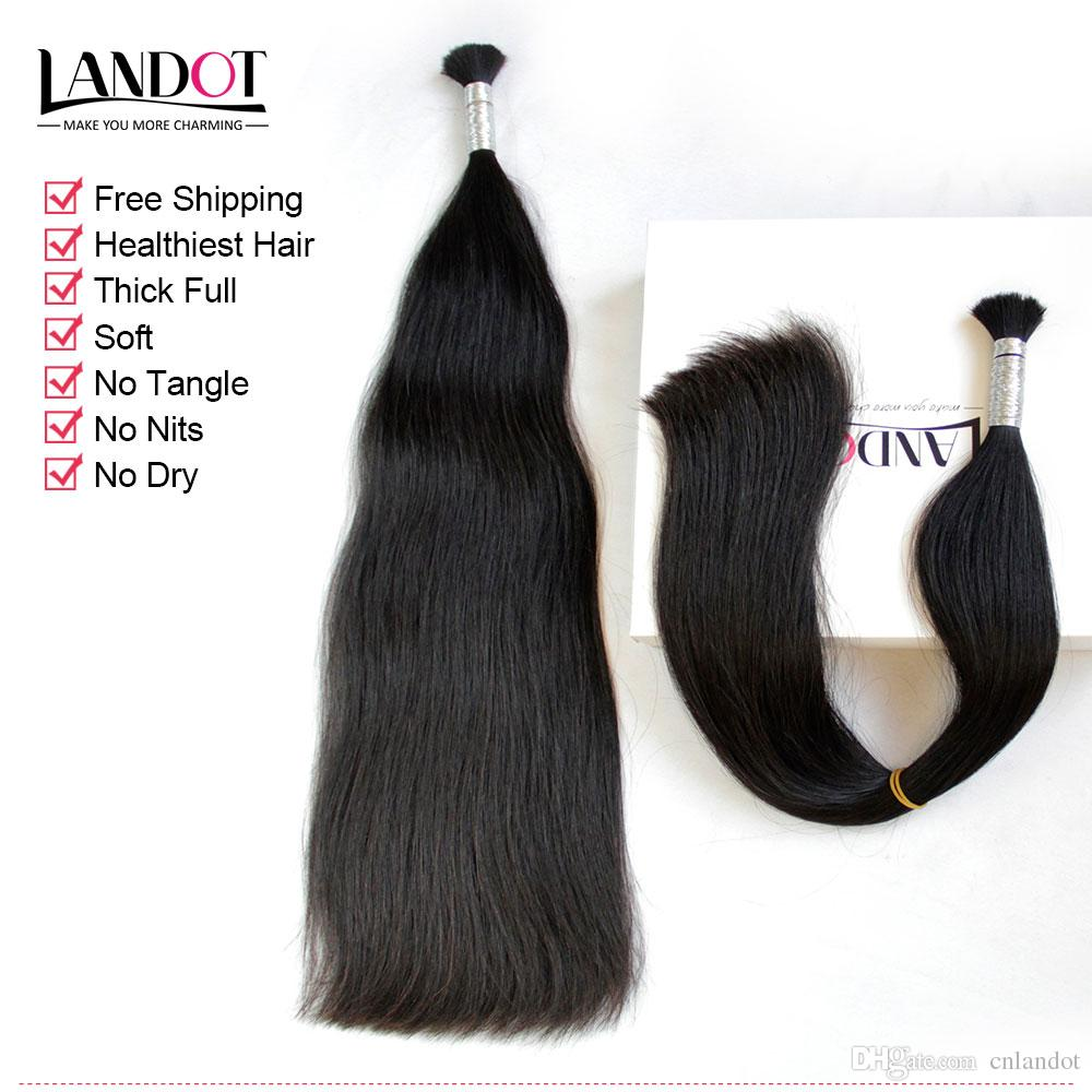 Лучшие 10А 100% необработанные девственные бразильские перуанские Малайзийские индийские прямые человеческие волосы Bulks салон питания клубок бесплатно может отбелить любой цвет