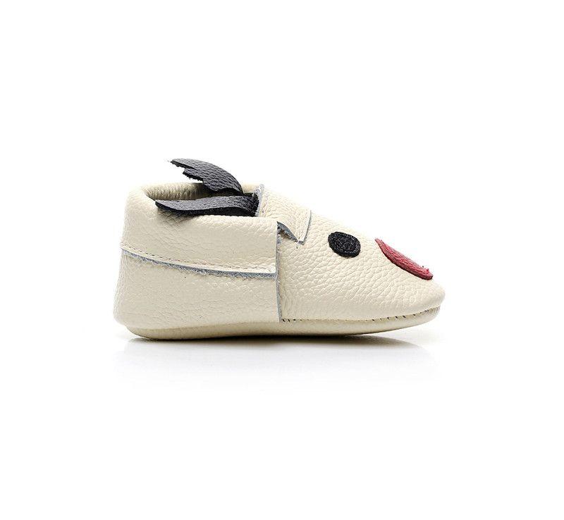 Christmas Deer Elk Baby Shoes Kids Cartoon Genuine Leather Cowhide First Walker Shoes Children Princess Girls Prewalker