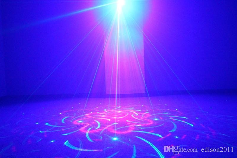 Suny Hohe Qualität RGB Mini 3 Objektiv 24 Muster Mischen Laser Projektor Effekt Bühne Fernbedienung 3 Watt Blaue LED-Licht Show Disco Party Beleuchtung