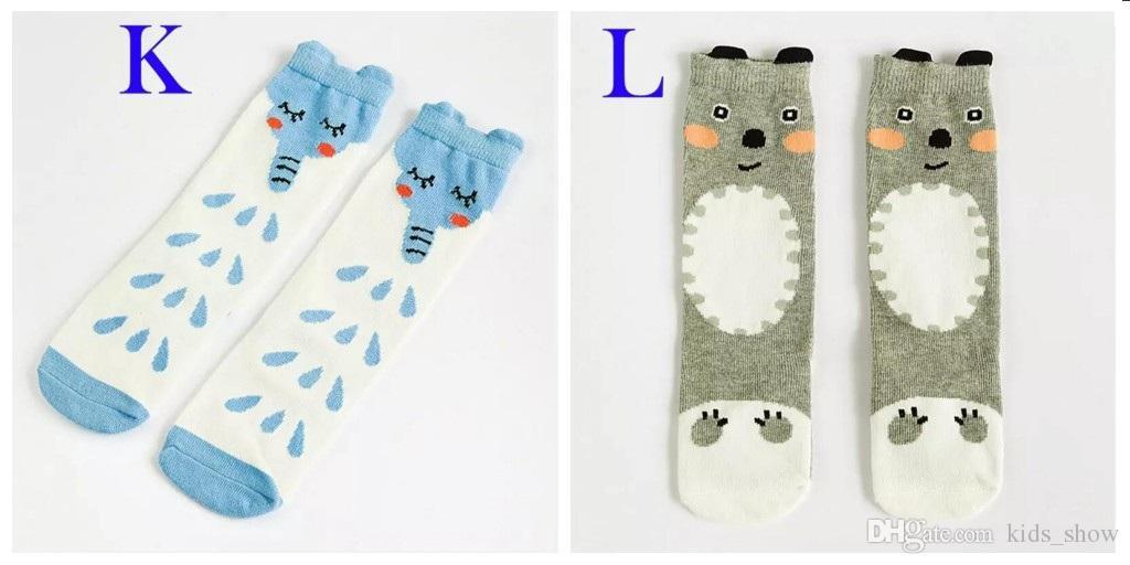 Unisexe dessin animé Animal jambières 2017 Mode bébé filles garçons genou haut Totoro Panda Fox chaussettes enfants mignon chaussette genou rayé