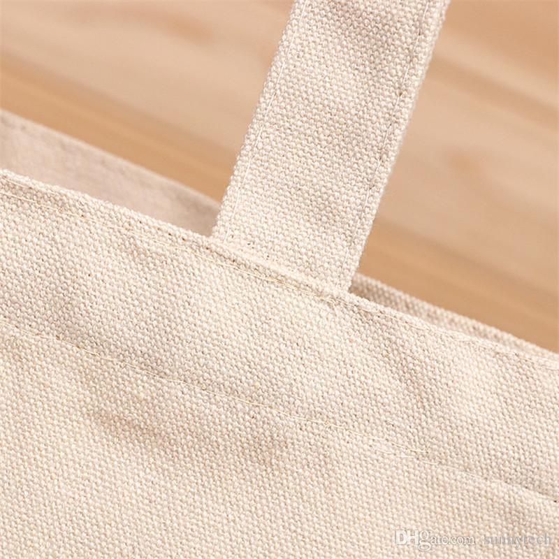 Leere Muster Leinwand Einkaufstaschen Eco wiederverwendbare Faltbare Schultertasche Handtasche Tote Baumwolle Einkaufstasche Großhandel benutzerdefinierte LZ0650