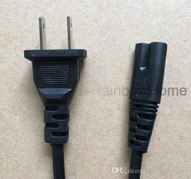 Cord Figura 8 AC Power Line Mains Cable 2 Pin substituição para o carregador da impressora Equipamento doméstico Cabelo Catcher Fogão Torradeira 1.5M