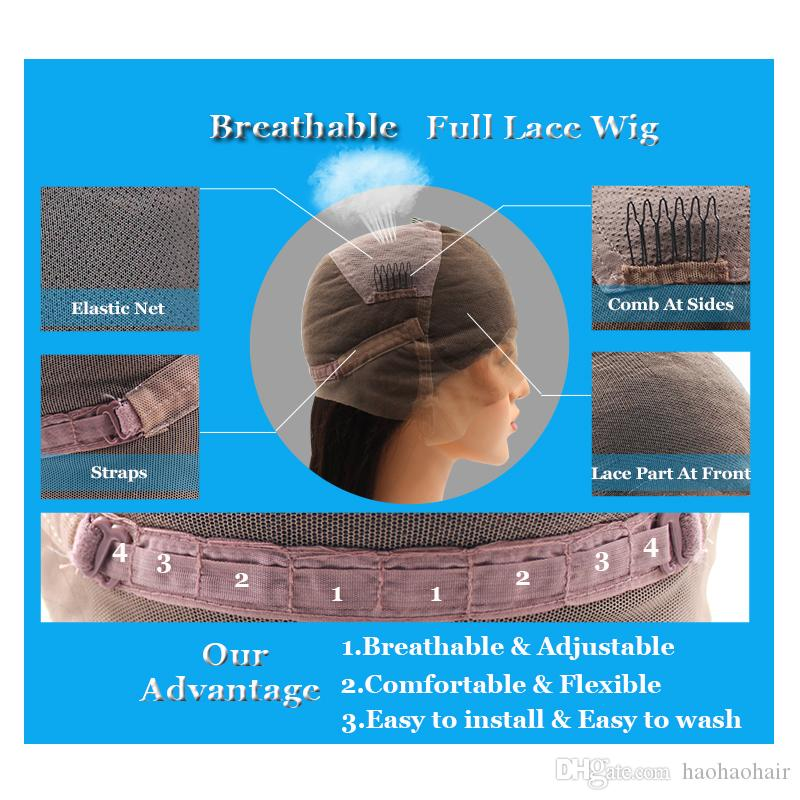 lace frontal Wig full lace wig Top grade high quality brazilian virgin human hair wigs for black women