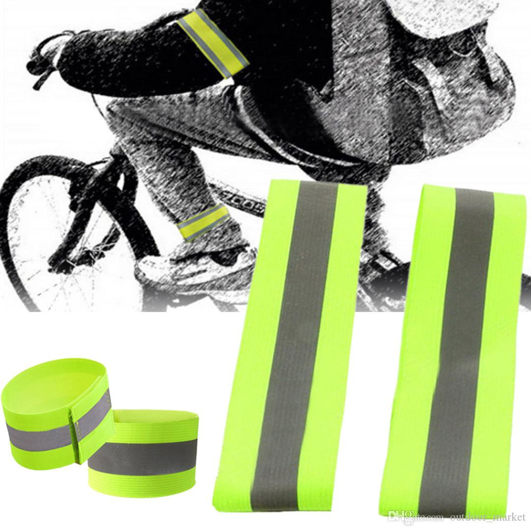 Nice Sports Safety Reflective Sticker Luminous Night Safety Reflective Arm Band Belt Strap For Outdoor Sports Night Running Biking Camping & Hiking