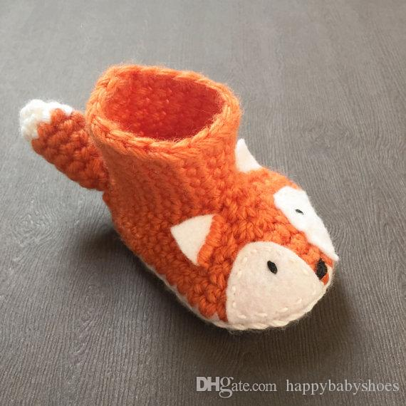 Animal Baby Booties - Crochet Fox Baby Shoes Fox Newborn - Gender Neutral Baby 0-12M customize