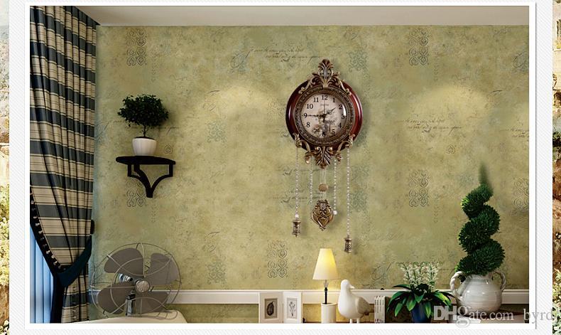 الرجعية نمط خمر الخشب ساعة الحائط مع البندول 0201008