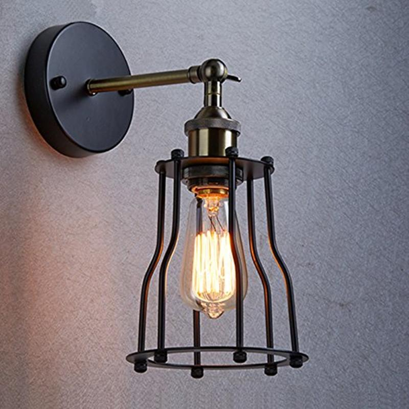 2017 Industrial Edison Vintage Wall Sconce Lamp 1 Light Wire Cage Shade Featured For Bedroom Hallway Coffee Bar From James19198 2624