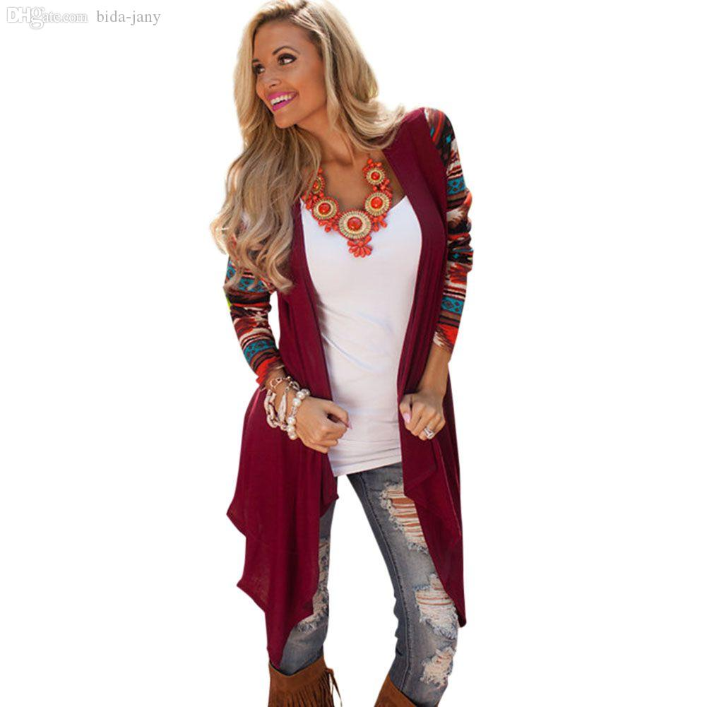 Wholesale Women Boho Knitted Kimono Cardigan Irregular Long Jacket ...