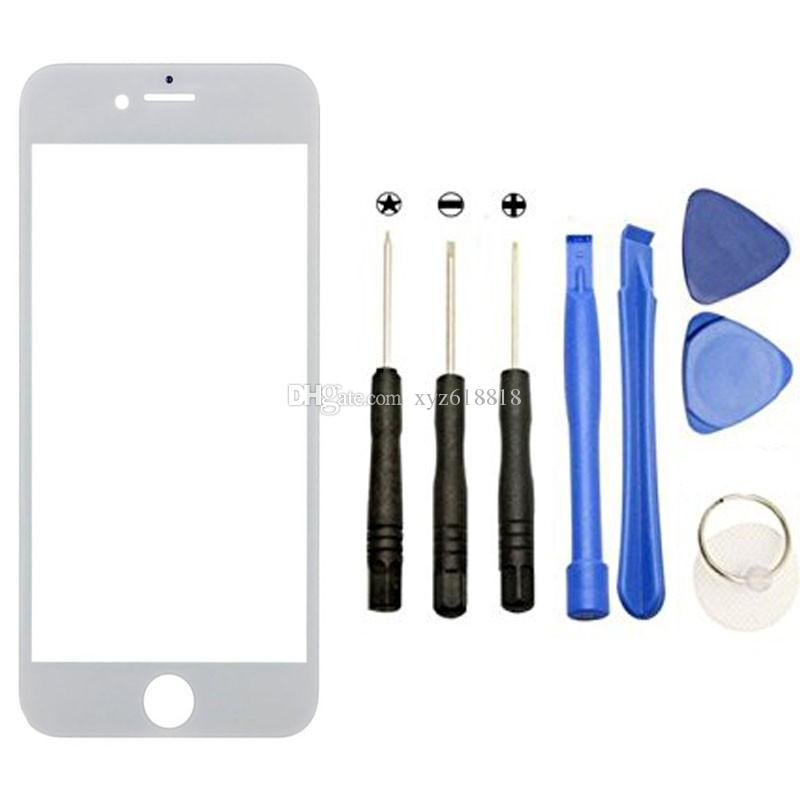 White Black Front Digitizer Touch Outer Glass Lens Screen For apple iPhone 6 6s 5 5C 5S 7 7P Replacement+Tools+Adhesive