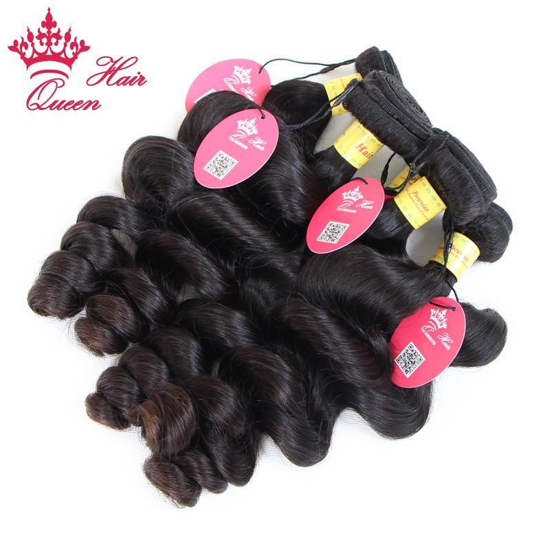 Queen Hair Products 100% unverarbeitete jungfräuliches Haar peruanische lose Welle schuss 12 - 28 in unserem Stock DHL Versand