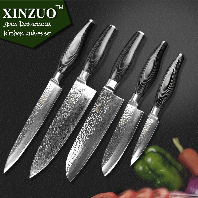Charming Xinzuo Kitchen Knife Set 73 Layer Damascus Kitchen Knife Japanese Vg10  Cleaver Chef Knife Kitchen Tool Kitchen Cutting Knives Kitchen Devil Knives  From ...