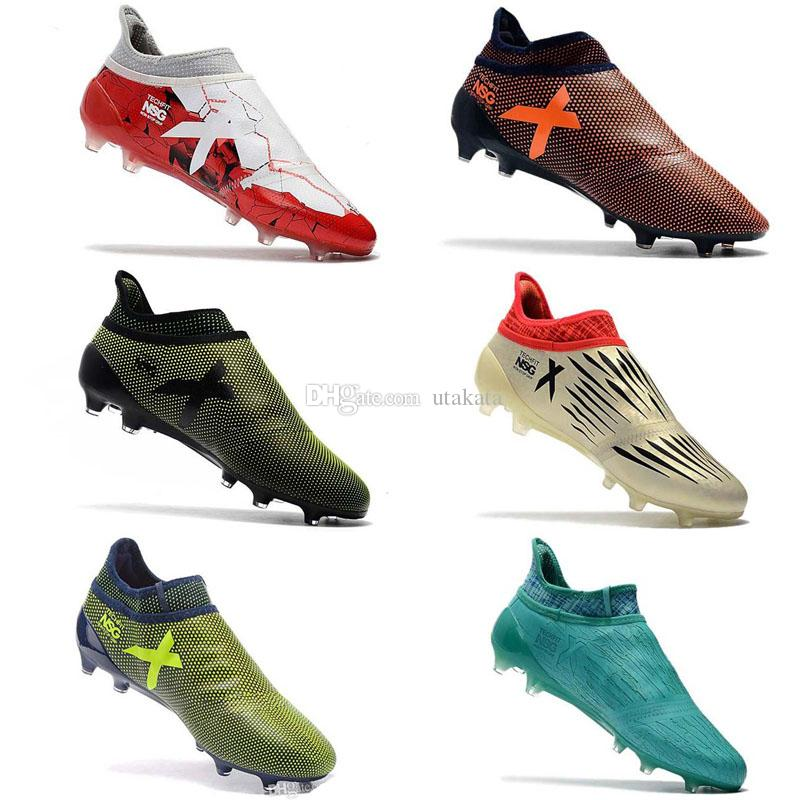 e3ab4d69cf6 2019 Black Colors Ace 17+ Purecontrol Soccer Cleats High Quality 100%  Original Messi Outdoor Soccer Shoes X 17+ Purechaos FG 39 45 Football Boots  From ...