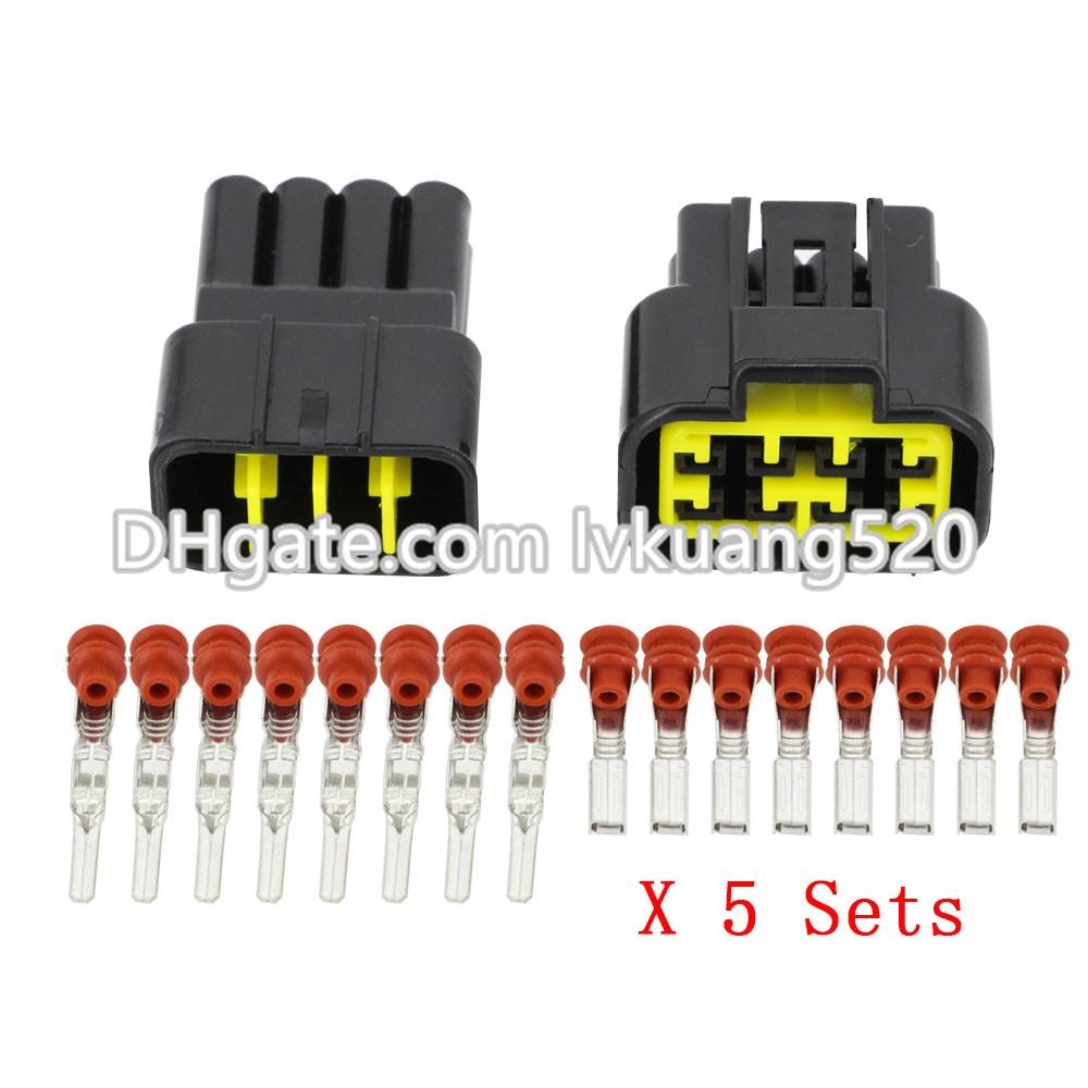 Kits 8 Pin/Way Waterproof Electrical Wire Connectors DJ7081Y-2.3-11 ...