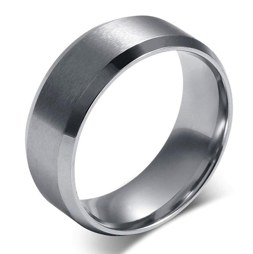Traditional Stainless Steel Wedding Ring 8mm