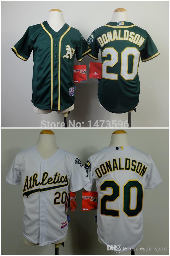 2018 2016 new discount 2014 youth baseball jersey oakland athletics 20 josh donaldson cool base green