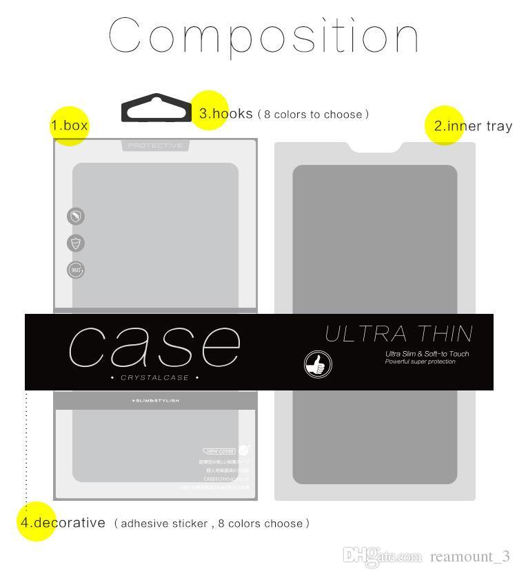 Caja del paquete de empaquetado del PVC de para los accesorios del paquete del regalo de la caja del teléfono celular de iPhone X 8 8 Plus