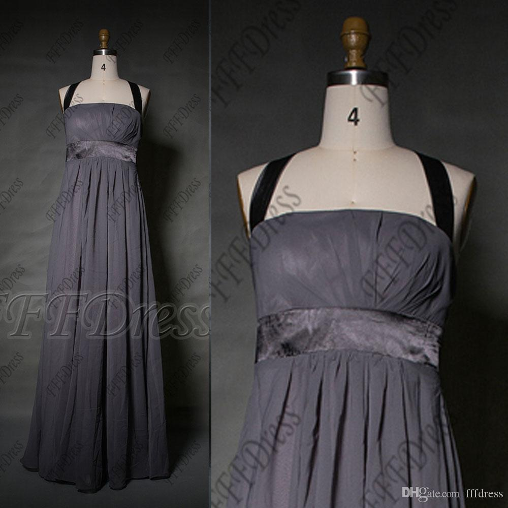 Halter charcoal gray bridesmaid dresses long formal gowns plus see larger image ombrellifo Images