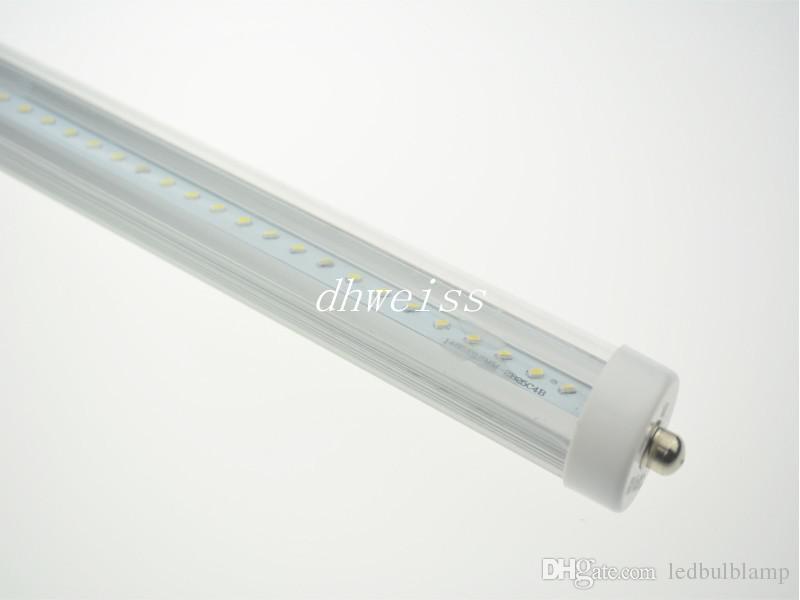 8feet FA8 Single Pin LED Tube Lights 45W 4200 lumens T8 2.4m SMD Led LED Fluorescent Light Warm/Natural/Cool White AC 110-277V CUL FCC UL