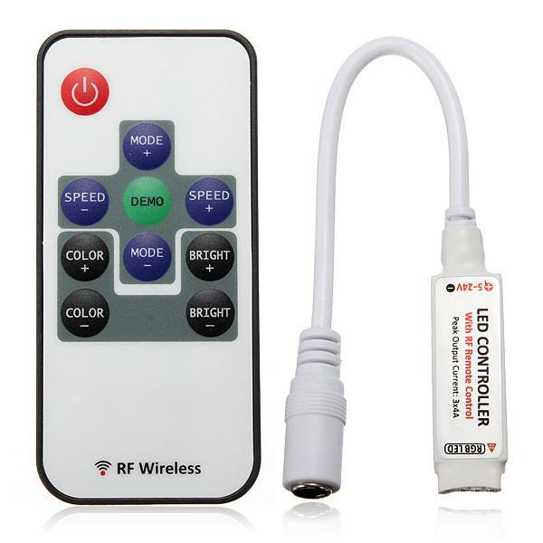 RGB RF Kontrolörü Dimmer Anahtarı Kablosuz Uzaktan Kumanda 3 Kanal DC5-12V 10Keys for 5050 3528 Led Şerit lambalar Aydınlatma
