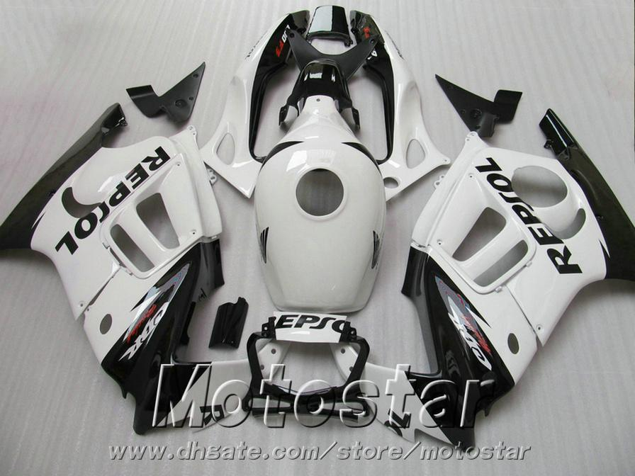 Motorcycle fairings set for HONDA 1995 1996 CBR600 F3 CBR 600 95 96 white black REPSOL high grade fairing kit ZB71