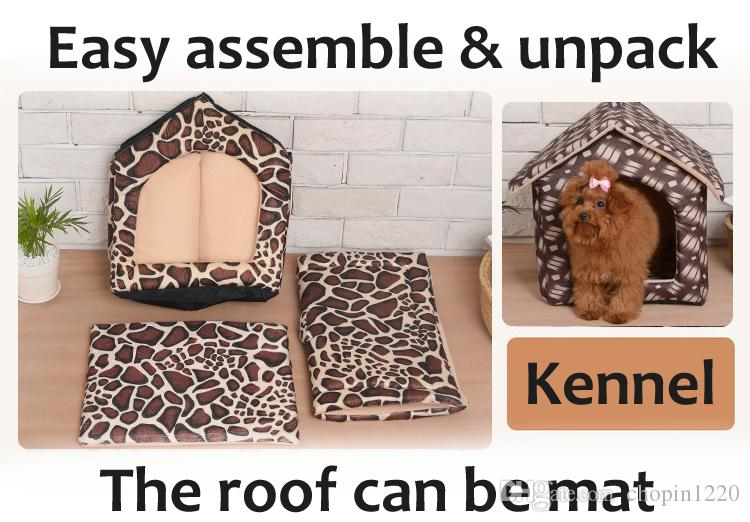 3 Style Mechanical Wash Standard Pet Dog Kennels Teddy Guinea Pig Cage MATS Luxury Cat Nest Winter Summer Air-Conditioning House freeshippin