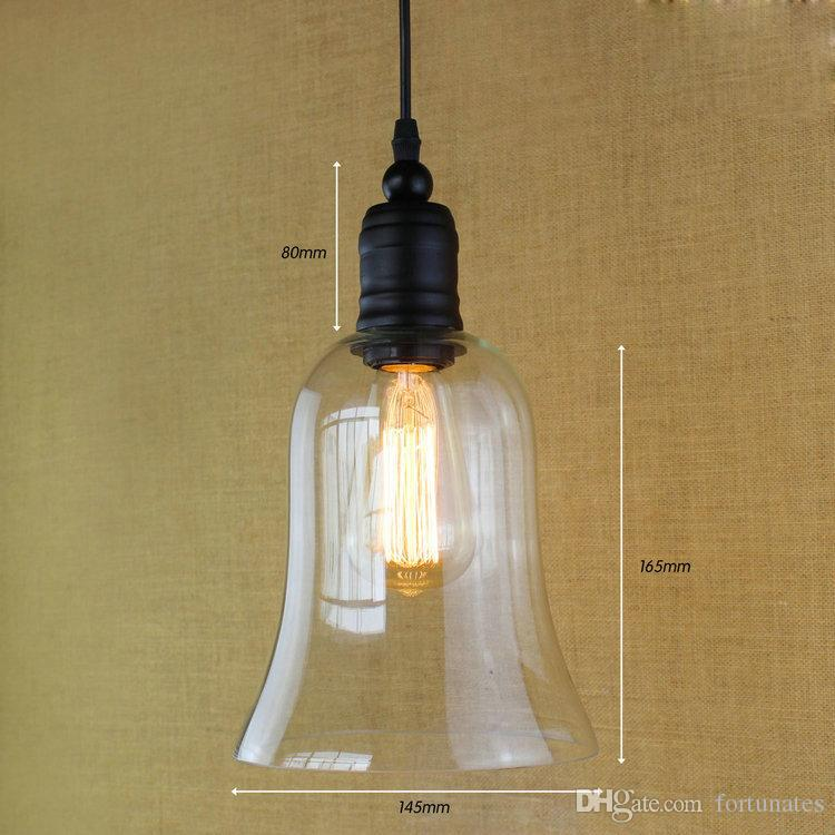 Modern Pendant Lights Vintage Edison Bulb Hanging Lamp Dining Room