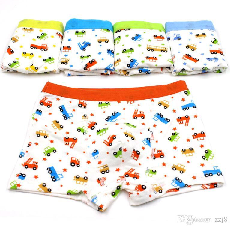 72bfeaa567aff Boys Boxers Kids Underwear Full of Cars Designs Modal Fabric Baby Boy  Shorts Child Pants five Sizes 2-15