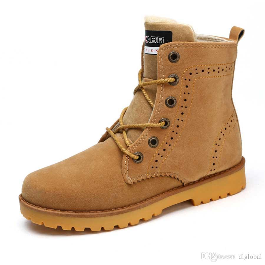 a5b6a3b4 Compre Moda Hombre Botas De Invierno Moda Cálido Plus Piel Botines Zapatos  Cómodos Botas Unisex Tamaño Grande A $43.62 Del Dlglobal | DHgate.Com
