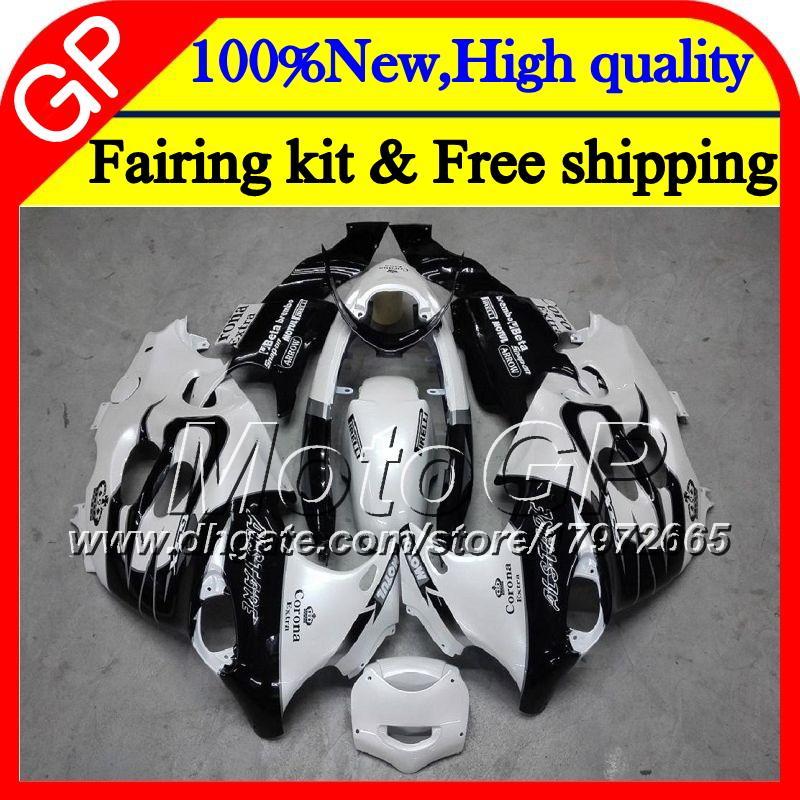 Body For SUZUKI KATANA GSXF 600 750 GSXF600 98 99 00 01 02 21GP8 GSX600F White CORONA GSXF750 1998 1999 2000 2001 2002 Motorcycle Fairing