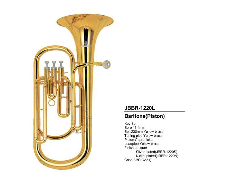 Mässing super bariton tuba kolv horn w / fodral