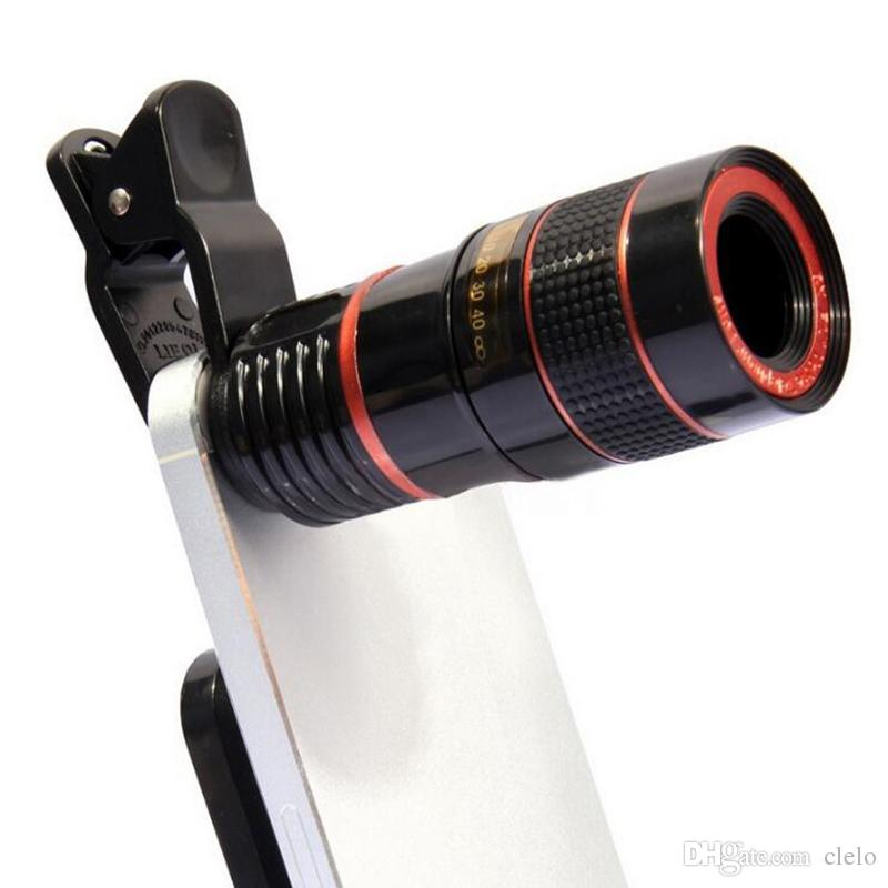 Hot NEWEST selling Camera Lens 8x Telephoto Lens Fisheye Wide Angle Macro Lens for iPhone 7 6s plus Samsung Galaxy S8 S7 Edge