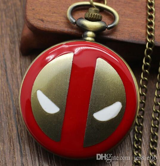 Дэдпул супергерой Альтман карманные часы мультфильм фильм тема ожерелье новый свитер цепи ювелирные изделия мужчины женщины дети партия праздничный подарок