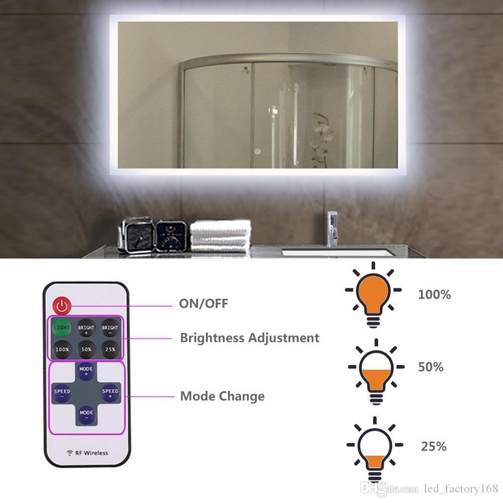 Bathroom Makeup Mirror Light 10FT 60LED Mirror with Remote and Dimmer Switch Vanity Light Kit DIY Cosmetic Hollywood Make Up Mirror