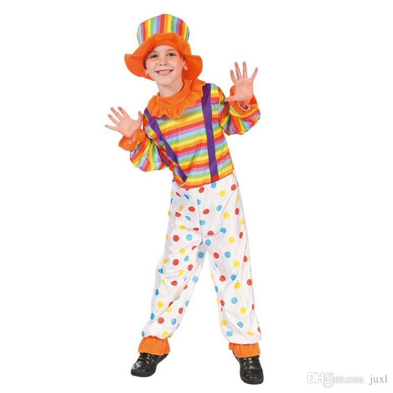 Colorful Kids Boys Girls Dot Clown Costume Children Carnival Cosplay Circus  Costumes Halloween Party Fancy Dress Decor Adult Costume Party Themes  Halloween