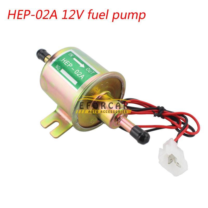 자동차 12V 디젤 페트로 가솔린 전기 연료 펌프 공급 저압 전기 연료 펌프 Hep-02A 연료 펌프 유형