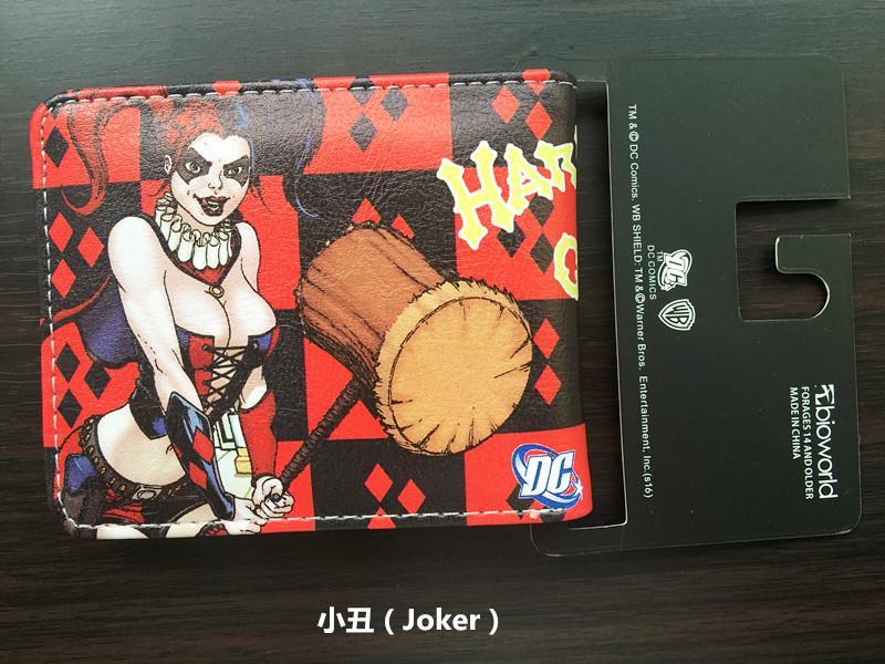 Movie Suicide Squad Wallet The Joker Harley Quinn DC Comics Bifold Men Women Wallets With Card Holder Purse Billeteras