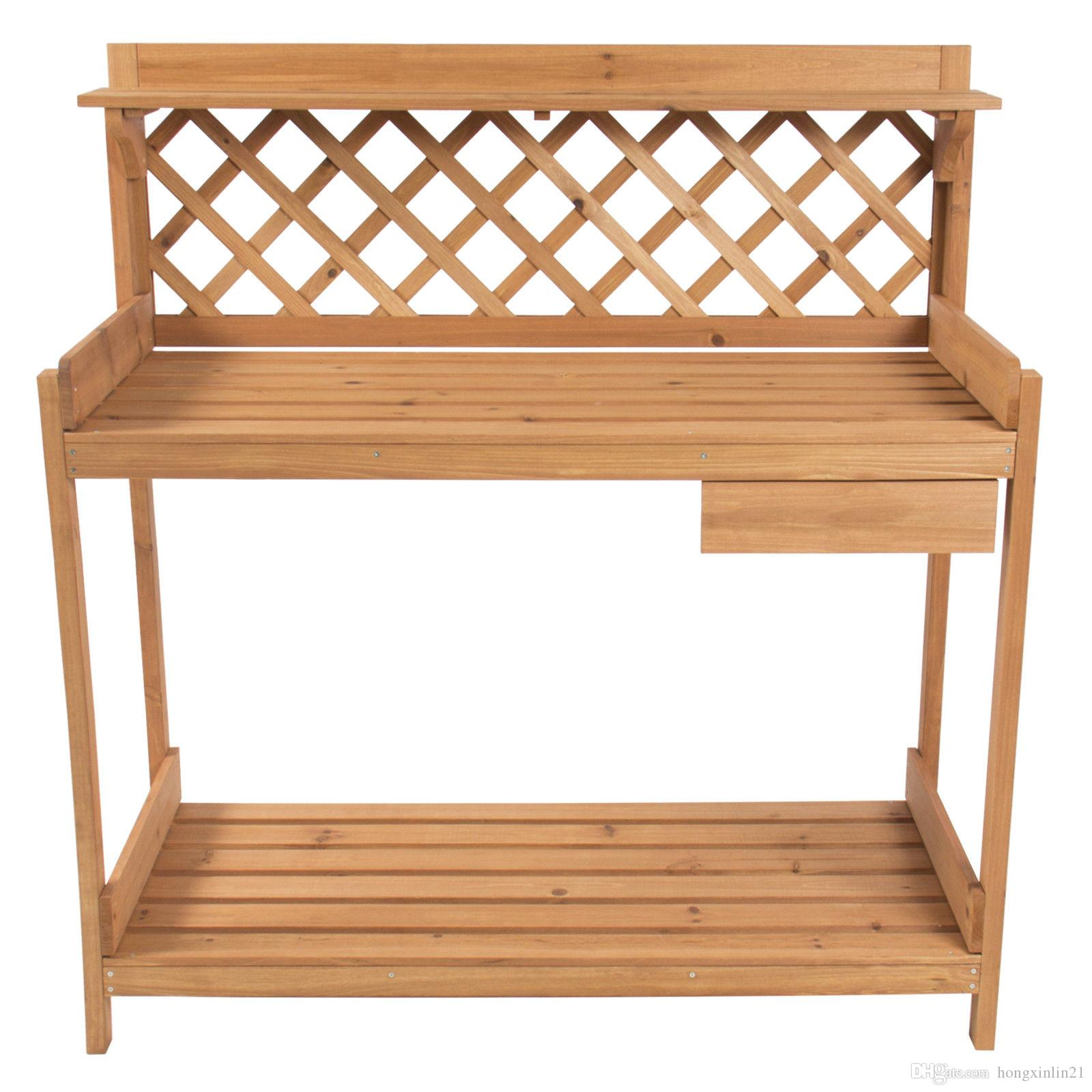 best quality potting bench outdoor garden work bench station planting solid wood construction at cheap price online other garden supplies dhgatecom - Garden Work Bench