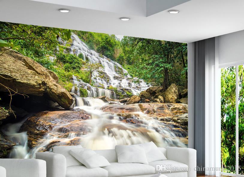 Mural personalizado para la sala de estar Paisaje del bosque mural del paisaje 3D wallpaper-roll-size