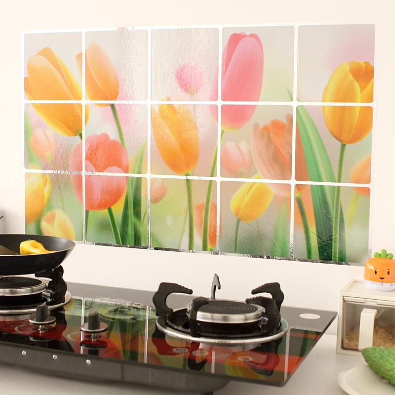 Superieur New Waterproof Aluminum Foil Kitchen Wall Stickers Wall Decals Paper Fruits  And Vegetables Cartoon Design Home Decor House Wall Stickers Huge Wall  Decals ...