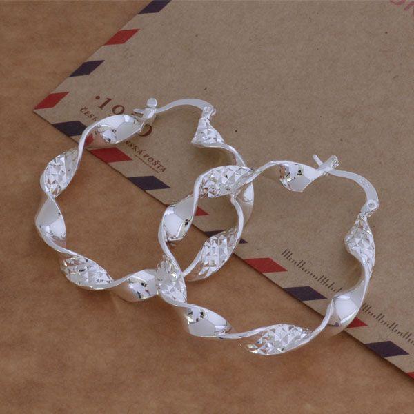 Мода Производитель ювелирных изделий 20 шт. Много Крученые гренландские серьги из стерлингового серебра 925 пробы ювелирные изделия цена завода Модные серьги