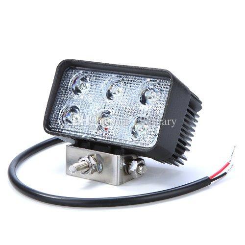 4.3 POUCE 18W LED LAMPE DE TRAVAIL 12V, FEU ANTIBROUILLARD, POUR L'UTILISATION DE ROUTE, 4WD, CAMION, PHARE DE MOTO