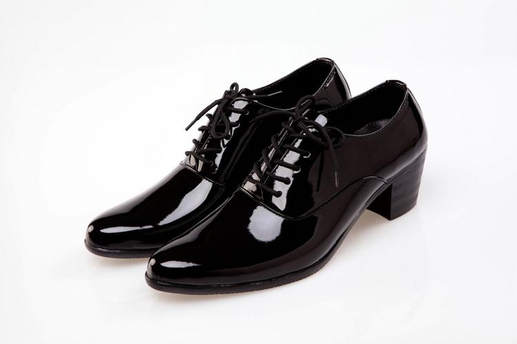 Shiny Dress Shoes Cool Men Shoes Leather Groom Casual Shoes Casual