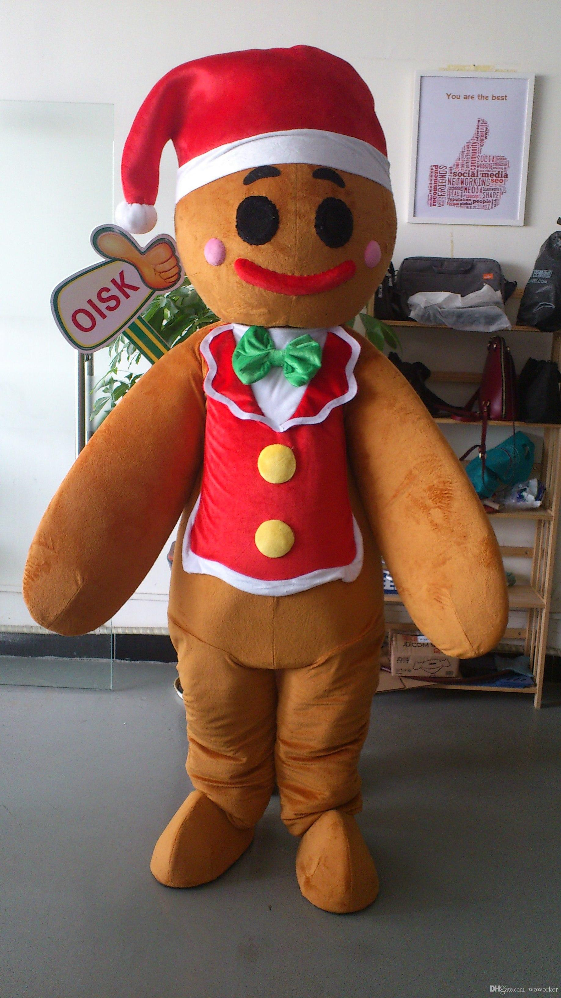 Actual Picture Gingerbread Man Mascot Costume Adult Size Fancy Dress For Party Mascot Prices Character Suits For Sale From Woworker $209.44| Dhgate.Com & Actual Picture Gingerbread Man Mascot Costume Adult Size Fancy Dress ...