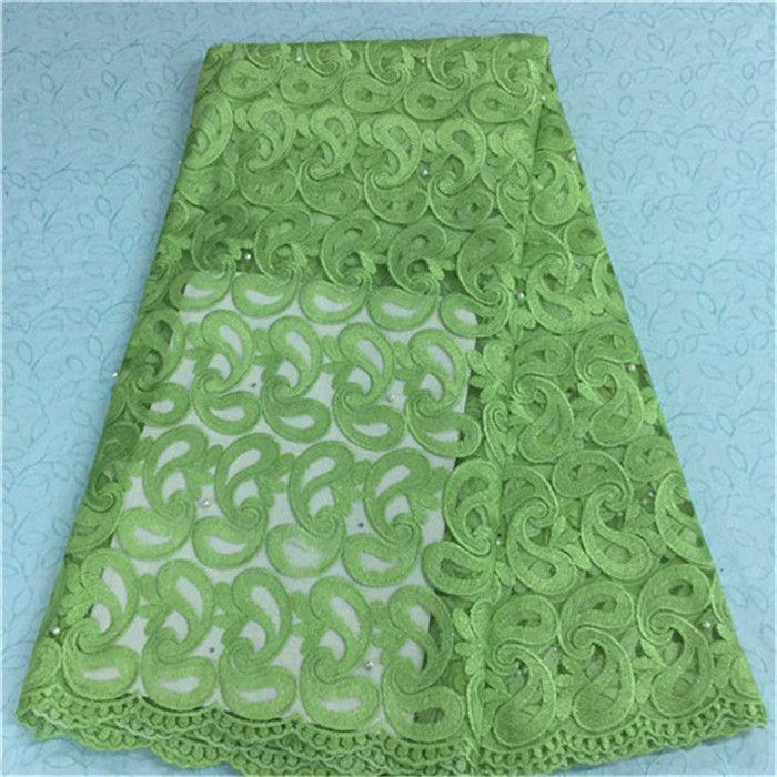 Nouveau tissu de dentelle africaine de conception de mode avec des perles tissu de dentelle net français pour la robe de soirée BN14-2,5 yards / pc