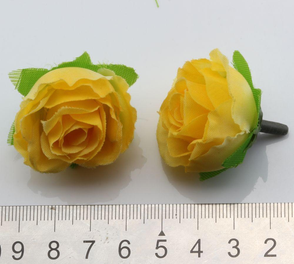 Grosses soldes ! Thé Rose Jaune Corolle Fleurs artificielles fleur de mariage 3cm