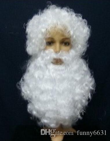 christmas Hallowmas men Santa Claus wig + beard suit April Fools' Day costume ball Father Christmas